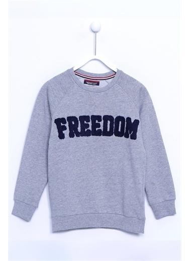 Silversun Kids Baskılı Kol Ve Etek Ucu Lastik Örme Sweatshirt Js 310388 Gri